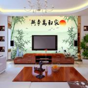 中式简约风格风景画电视背景墙装饰