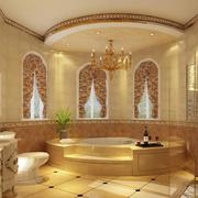 别墅温馨黄色卫生间