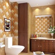 美式简约风格原木浴室柜装饰