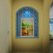 地中海简约玄关背景墙装饰
