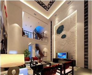 楼中楼简约风格电视背景墙装饰