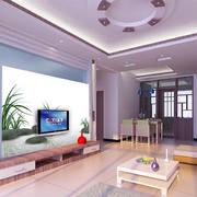 跃层现代化自然清新电视墙装饰