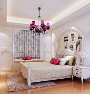 韩式清新风格卧室飘窗装饰