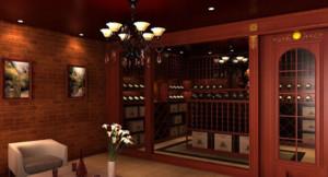 120平米东南亚风格酒柜装修效果图