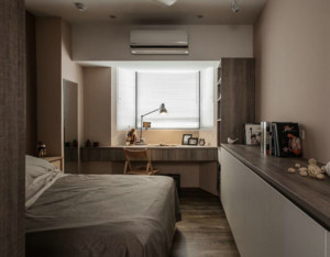 后现代风格卧室置物柜装饰