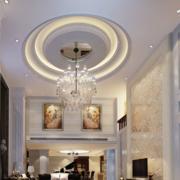 大型别墅欧式简约风格圆形吊顶装饰
