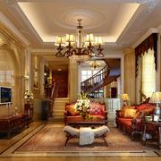 欧式风格客厅大理石电视背景墙装饰