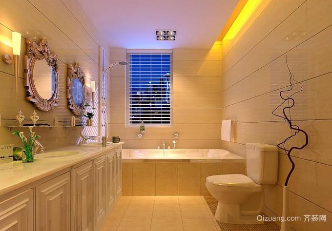 三室两厅两卫洗手间装修效果图