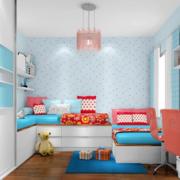 简约风格跃层儿童房衣柜设计