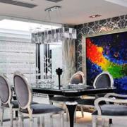 室内餐厅瓷砖现代款