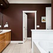美式简约风格卫生间浴室柜装饰