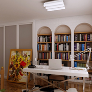 美式简约风格书房吊顶装饰