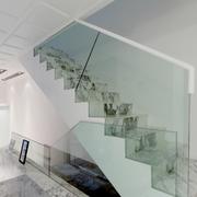 后现代风格白色系楼梯装饰