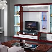 中式深色系原木电视柜装饰