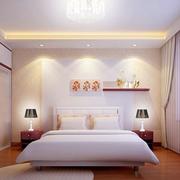 现代简约风格卧室床头置物架装饰