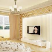 欧式清新风格电视墙饰装饰