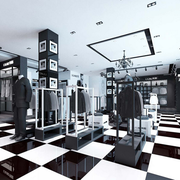 服装店简约风格玻璃橱窗展示