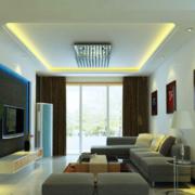 简洁客厅射灯布置