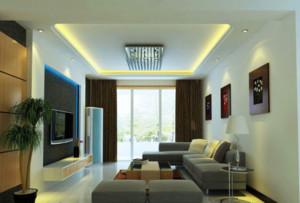 时尚客厅吊顶led天花射灯装修效果图