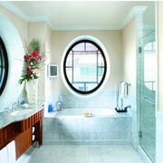 卫生间简约风格透气窗装饰