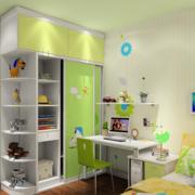 现代简约风格儿童房衣柜装饰