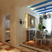 地中海风格厨房餐桌装饰