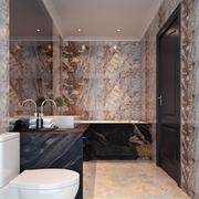 欧式风格奢华卫生间墙壁装饰