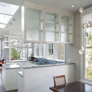 复式楼后现代风格厨房隔断装饰