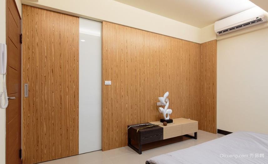 简约宁静卧室隐形门装修效果图