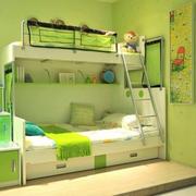 简约小清新青色儿童床