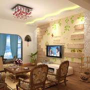 中式风格客厅餐桌装饰