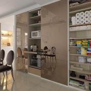 欧式奢华风格复式楼客厅储物柜装饰