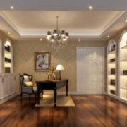 欧式风格奢华书房吊顶装饰