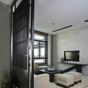 日式简约风格客厅隔断屏风装饰