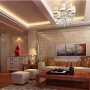 欧式简约风格楼中楼客厅装饰
