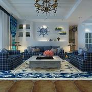 地中海风格客厅地板装饰