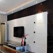 后现代风格白色简约电视背景墙装饰