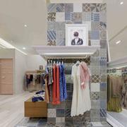 后现代风格服装店拼色地板装饰