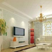 韩式清新风格小碎花简约风格客厅装饰