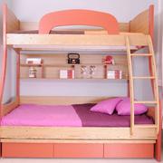 简约小清新粉色儿童床