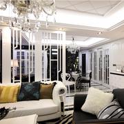 后现代风格奢华客厅隔断装饰