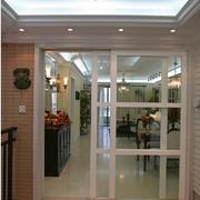 欧式简约风格客厅推拉门装饰