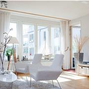 北欧客厅窗帘现代款
