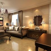 法式风格简约客厅沙发背景墙装饰