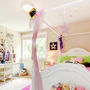 欧式粉色系儿童房床饰装修