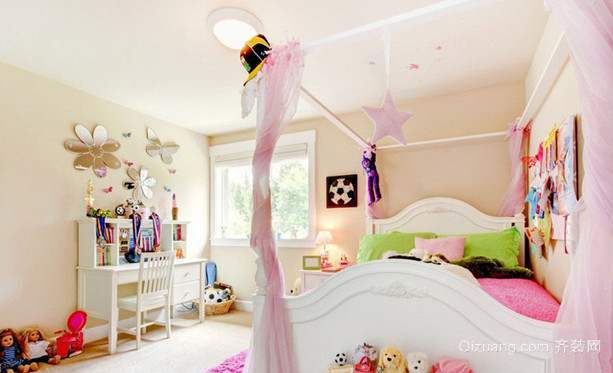 118平米可爱温馨韩式儿童房设计装修效果图