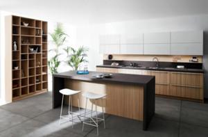 厨房简约风格原木吧台装饰