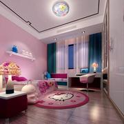 后现代风格粉色系儿童房装饰