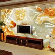 中式风格电视墙饰效果图