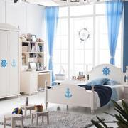 地中海风格儿童房飘窗装饰